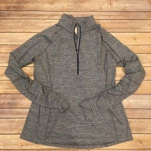 Lucy Grey Half Zip Workout Hoodie, Size XL
